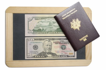 Billets 50 dollars passeport ardoise #1